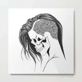 women skull  Metal Print