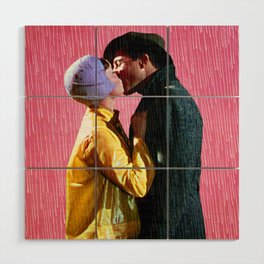 Singin' in the Rain - Pink Wood Wall Art