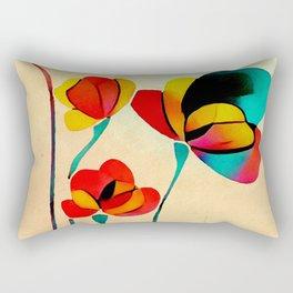 Exotic Watercolor Flower Rectangular Pillow