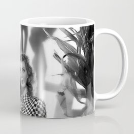 Black Cats Don' Scare Girls black and white photograph Coffee Mug