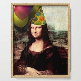 Mona Lisa Birthday Girl Serving Tray