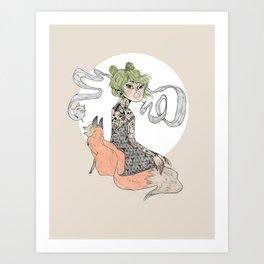 Catty Fox Art Print
