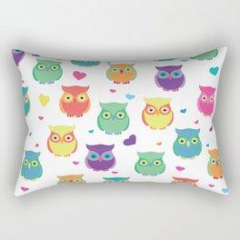 Rainbow Owl Cuties Rectangular Pillow