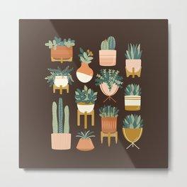 Cacti & Succulents Metal Print