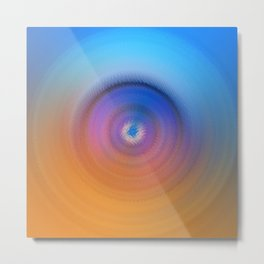 Abstract round shapes in blue and orange tones Metal Print