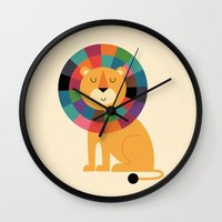 valentina Wall Clocks featuring Mr. Confidence by Andy Westface