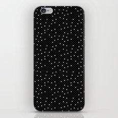 Pin Point Polka White on Black Repeat iPhone Skin