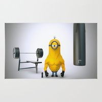 gym Area & Throw Rugs featuring Minion Gym by TParish Productions