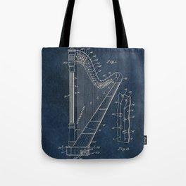 Ekman  Harp  patent art Tote Bag