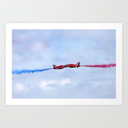 The Red Arrows synchro pair Art Print
