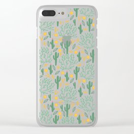 cactuses (3) Clear iPhone Case