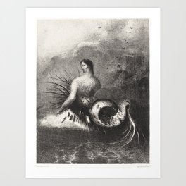 The Siren Clothed In Barbs Emerged From the Waves Art Print