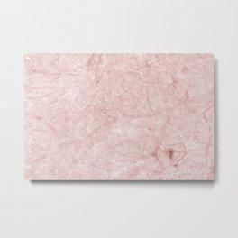 Pretty in Pink Marble Metal Print