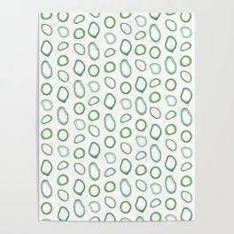 Onion rings pattern Poster