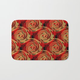 Abstracty pattern in red and brown tones. Bath Mat