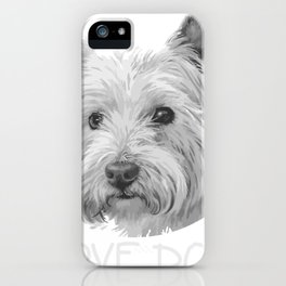 Yorkshire I love Dogs Animal Portrait iPhone Case