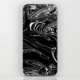 Black Marble Silk iPhone Skin
