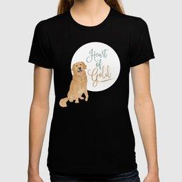 Heart of Gold // Golden Retriever T-shirt