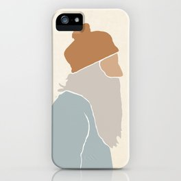 Trendy wise man #Illustration #digitalart iPhone Case