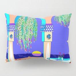 The Moorish Honeymoon Garden at Night Pillow Sham