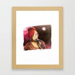 Pink Singer Framed Art Print