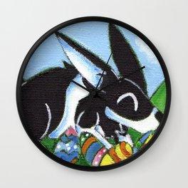 Easter Egg Bunny Wall Clock