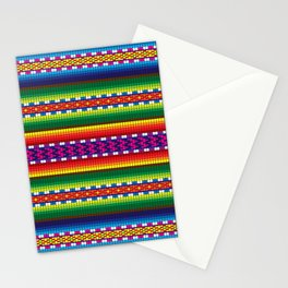 Colorful Woven South American Pattern Stationery Cards