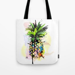 Abstract Watercolor Pineapple Tote Bag