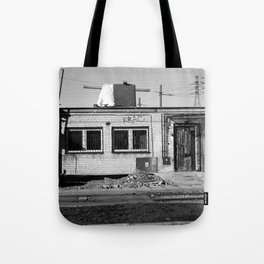 left alone, forgotten home, ruined building, warsaw, poland Tote Bag