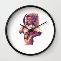hollywood Wall Clocks featuring Hollywood by Allie Rey