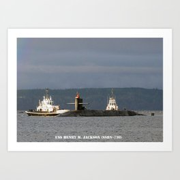 USS HENRY M. JACKSON (SSBN-730) Art Print