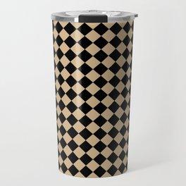 Black and Tan Brown Diamonds Travel Mug
