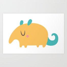 Cute Anteater Art Print