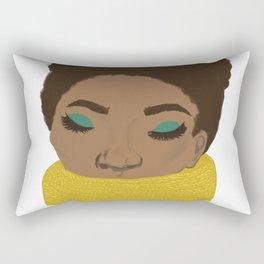 Color splash portrait Rectangular Pillow