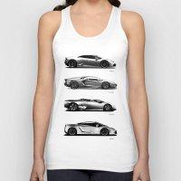 lamborghini Tank Tops featuring The Lamborghini Collection by Mark Rogan