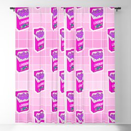Loveboro cigarette packs pattern / girly stickers / pink grid Blackout Curtain