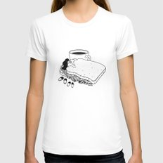 Breakfast Included SMALL White Womens Fitted Tee