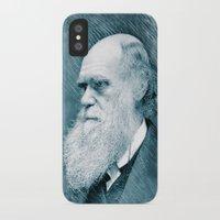 darwin iPhone & iPod Cases featuring Charles Darwin by Zandonai