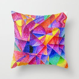 Spherical Expansion of Light No. 2, Centripetal and Centrifugal by Gino Severini Throw Pillow