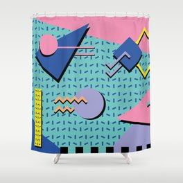 Memphis Pattern 14 - 80s Retro Shower Curtain