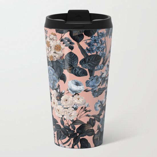 Summer Botanical Garden II Metal Travel Mug