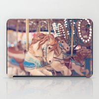 carousel iPad Cases featuring Carousel by Laura Ruth