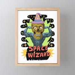 SPACE WIZARD Framed Mini Art Print