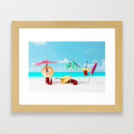 The Red, the Hot, the Chili on the beach Framed Art Print