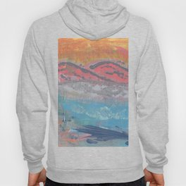 Mountain Range and River Abstract Hoody
