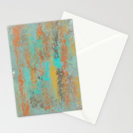 Aqua Stone Textured Abstract Stationery Cards