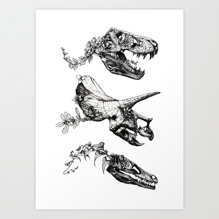 Jurassic Bloom. Kunstdrucke