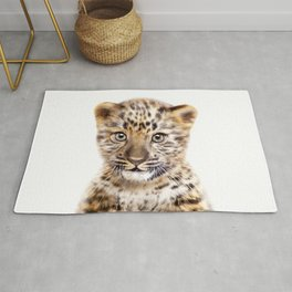 Baby Leopard, Baby Animals Art Print By Synplus Rug