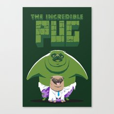 The Incredible Pug Canvas Print
