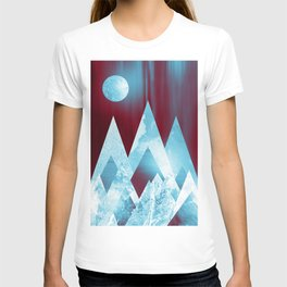 ICY MOUNTAINS UNDER A BLOOD RED WINTER MOON T-shirt